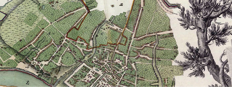 Дорегулярная карта Калуги 1782
